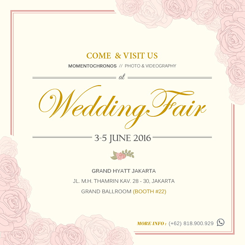 Wedding Fair 2016 – Grand Hyatt Hotel Jakarta